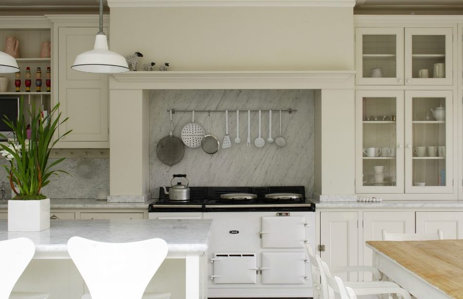 Cocina en color blanco decoraci n chic - Cocinas lacadas en blanco ...