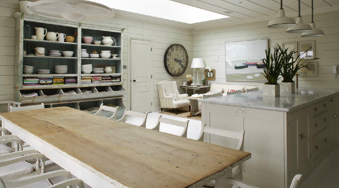 Una cocina comedor en blanco decoraci n chic - Cocinas acogedoras ...