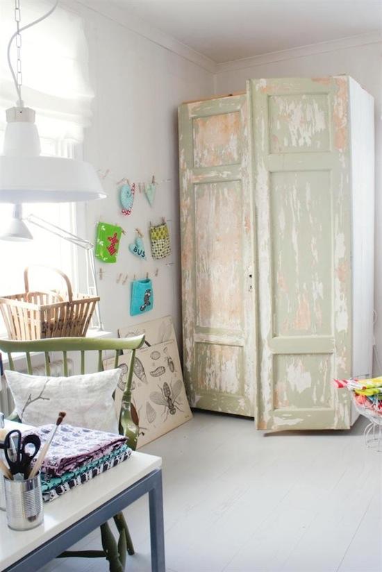 Armario Baño Vintage:armario-decapado-en-verdes