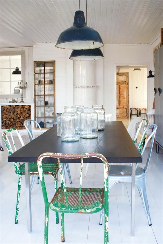 Comedor vintage industrial decoraci n chic - Decoracion vintage industrial ...