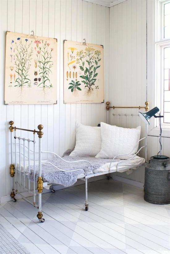 Dormitorio vintage casa con luz decoraci n chic - Dormitorios infantiles vintage ...