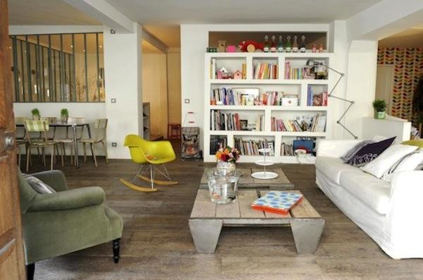 casa con color en paris decoraci n chic. Black Bedroom Furniture Sets. Home Design Ideas