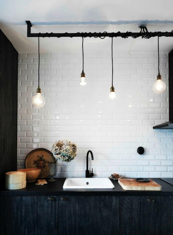 Cocina con azulejos blancos me encantan decoraci n chic - Azulejos para cocina modernos ...