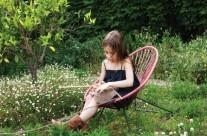 muebles infantiles de terraza y jardin de divertidos colores